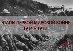 Этапы Первой мировой войны