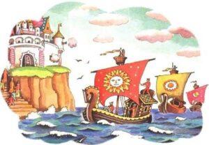 Главные герои сказки о царе Салтане