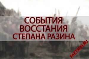События восстания Степана Разина