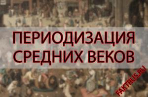 Периодизация Средних веков