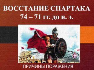 Поражение восстания Спартака