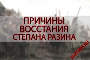 Причины восстания Степана Разина