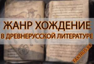 Жанр хождение в древнерусской литературе